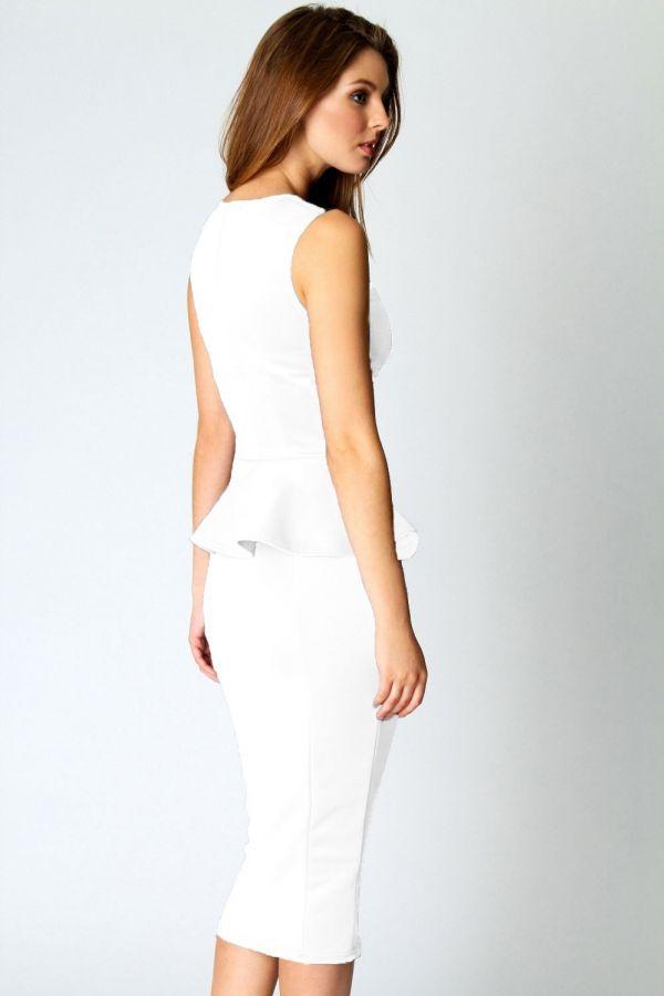d0bb3132b9a bílé pouzdrové společenské šaty Linda - vampire